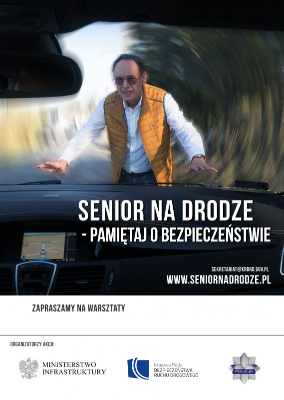 """""""Senior na drodze – pamiętaj o bezpieczeństwie""""- ruszamy z warsztatami"""